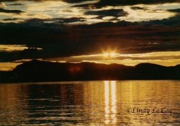 double helix sunset