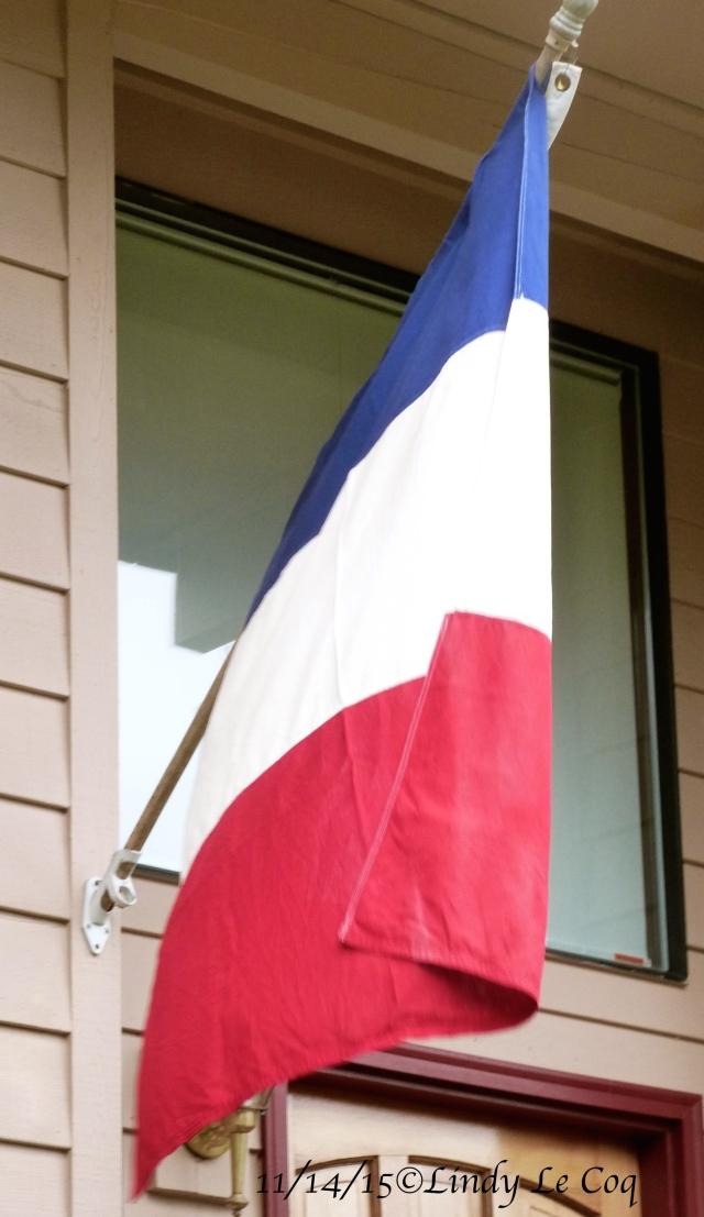 Le drapeau de France chez moi.