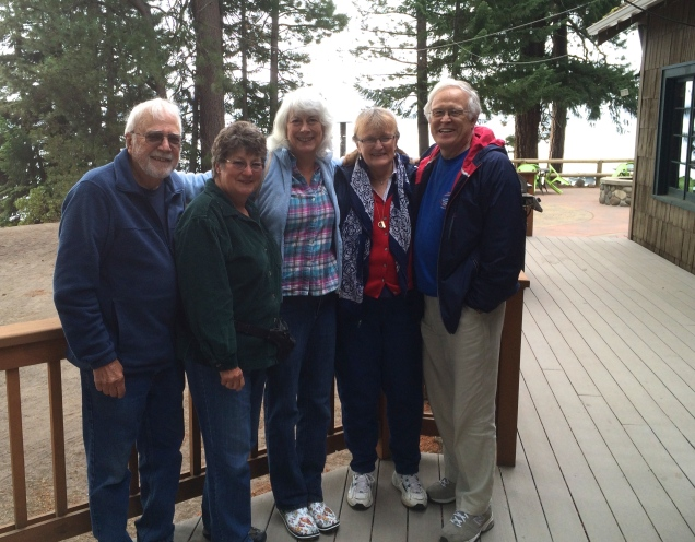 Les, Diana, Lindy, Carolyn, Duncan at Crescent Lake Resort