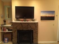 Fireplace, TV