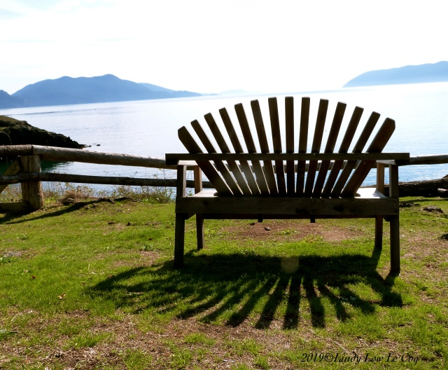 bench at doe bay